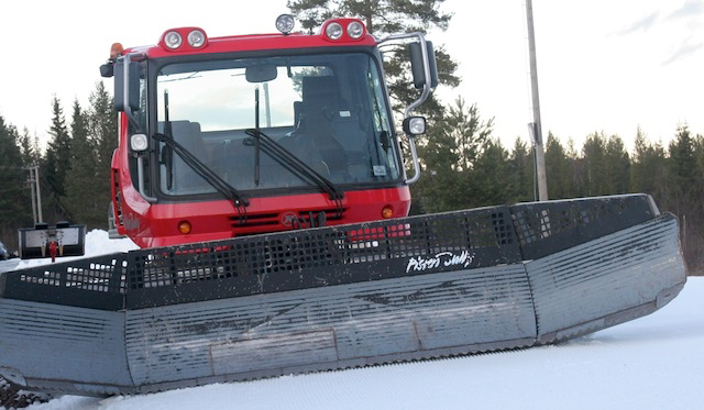 The snowcat at Trysil. (Photograph: Inge Scheve)