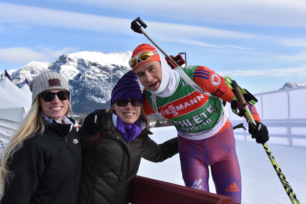 Durtschi with his mother and girlfriend at the World Cup in Canmore, Alberta. (Courtesy photo)