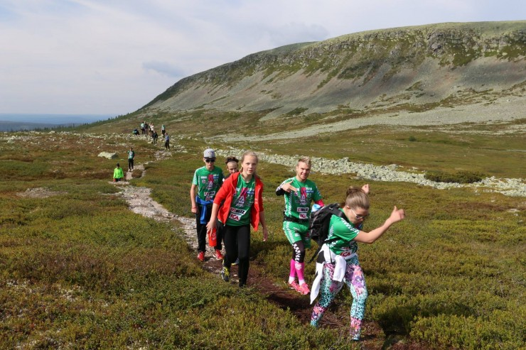 Bryntesson and his campers reach new heights close to Idre, Sweden. Photo: Crew Robin.