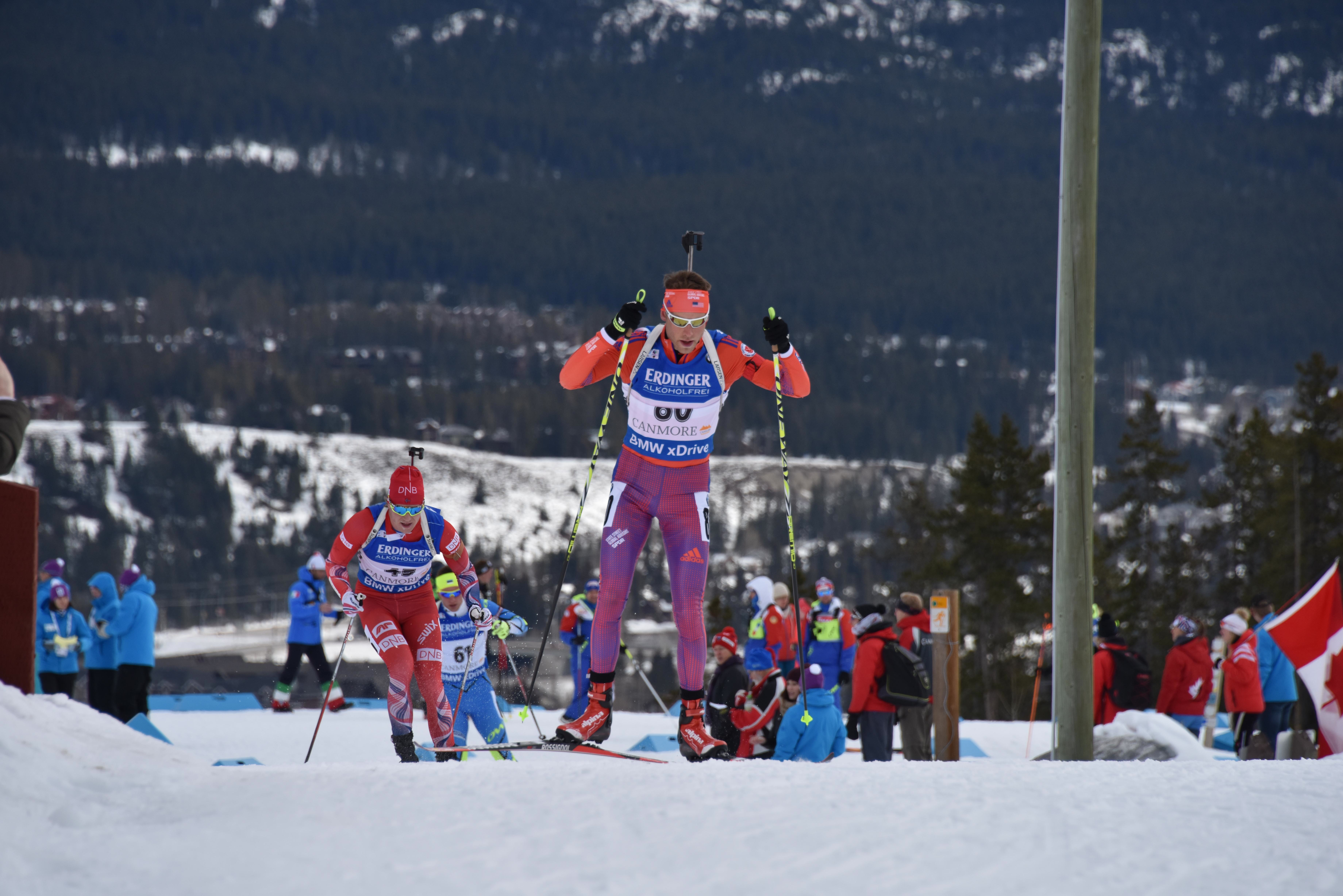 Max Durtschi making his World Cup debut in Canmore, Alberta, last season. (Courtesy photo)