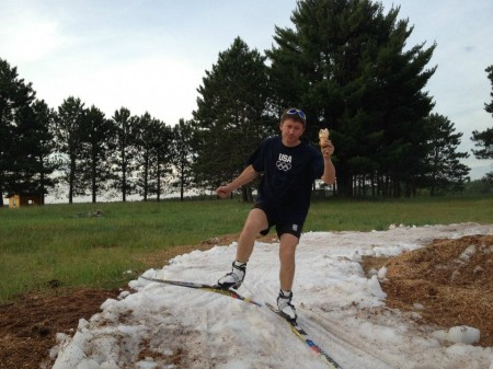 Igor Badamshin: photograph is titled &quotSnowflakes, ice cream, and Igor,&quot by former CXC Group elite coach Bill Pierce. Badamshin was the CXC program head coach right up until his sudden death in January 2014. (Photograph: cxcnewsfeed.wordpress.com)