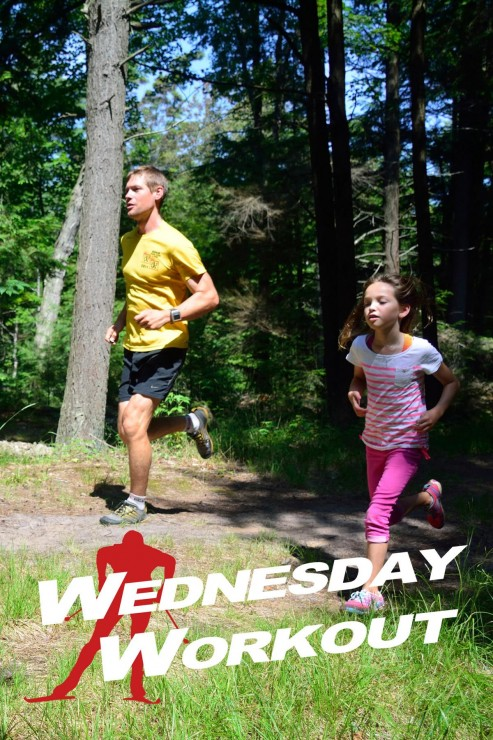 Chris Pappathopoulos, the inaugural CXC Marathon Cup winner, running with his eleven-year-old daughter Tula. (Courtesy photograph)
