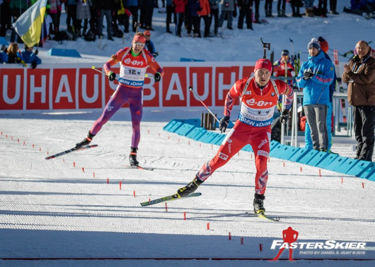 Norway's Håvard Bogetveit prospects American Lowell Bailey into the finish in a race for third in Sunday's mixed relay at the IBU Planet Cup in Canmore, Alberta. The U.S. placed fourth for a group ideal in the event's 11-12 months historical past. (Photograph: Daniel S. Guay)