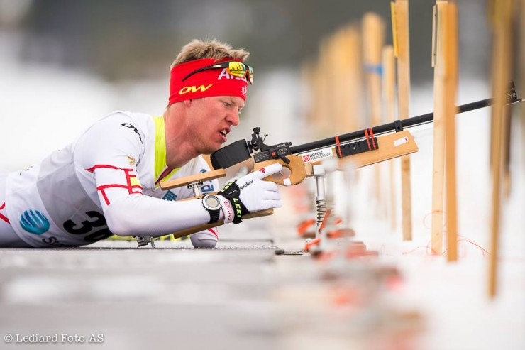 Mark Arendz (Canadian Para-Nordic Ski Team) at 2015 IPC Globe Cup Finals in Surnadal, Norway. He placed fourth overall in the 2014/2015 IPC Globe Cup biathlon standings. (Photo: IPC Nordic Skiing/Facebook)