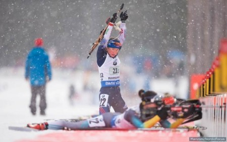 U.S. second-leg skier Hannah Dreissigacker after her susceptible shooting stage, exactly where she utilised 3 spares and went on to preserve her team in 10th in the women's relay in Ruhpolding, Germany. (Photo: USBA/NordicFocus)