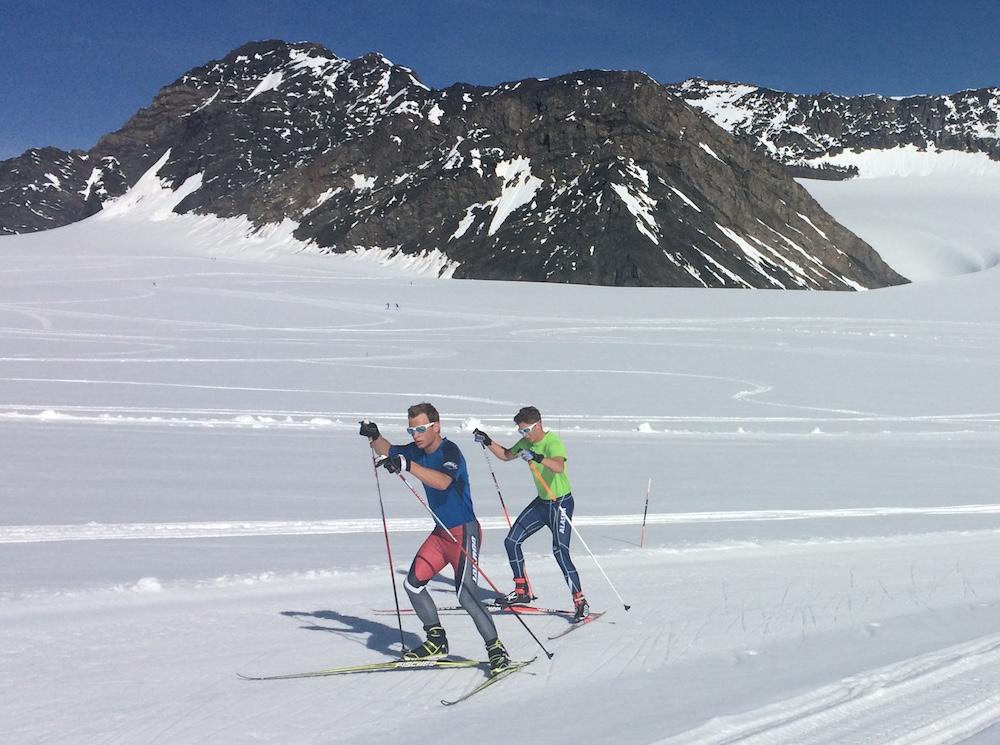 Hunter Wonders (in blue shirt) of Alaska Pacific University training on Eagle Glacier near Girdwood, Alaska. (Courtesy photo)