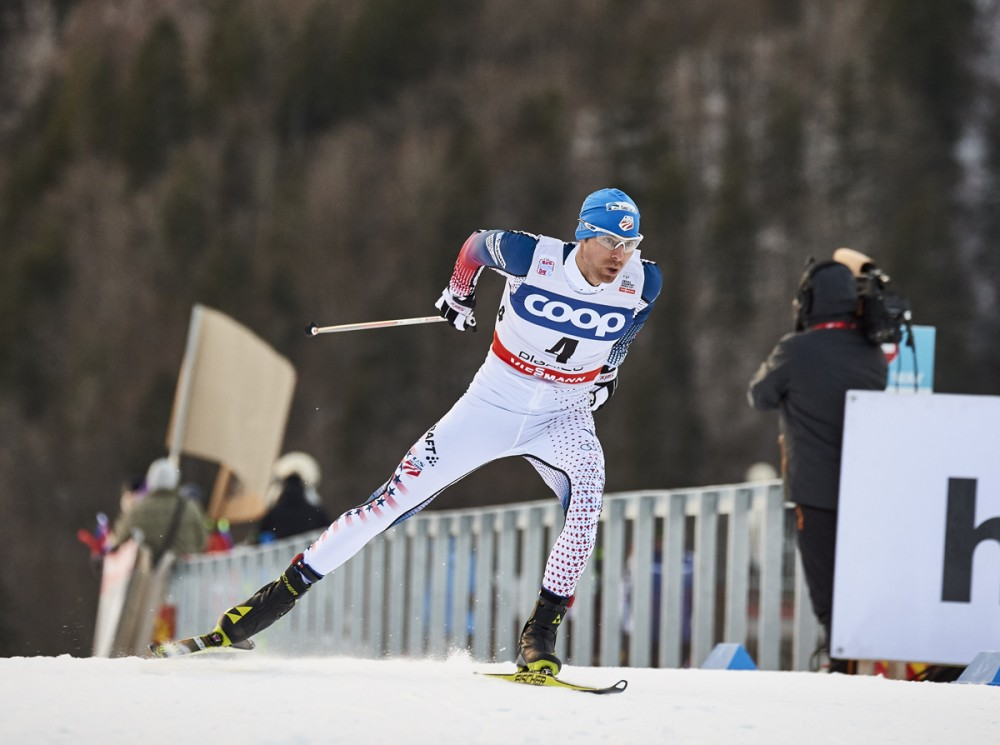 Andy Newell (U.S. Ski Staff) on his way to 24th in the men's one.2 k freestyle sprint qualifier at the World Cup in Planica, Slovenia. He went on to area 23rd total. (Photograph: Fischer/NordicFocus)