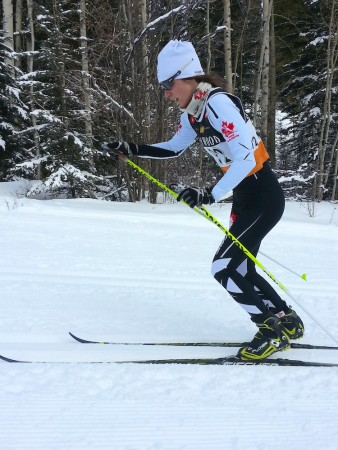 Frédérique Vézina of the Pierre-Harvey Training Centre for the duration of a NorAm race.