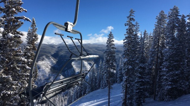 Exhibit H: You might even consider sitting on this chair for another go around with views like this over on Aspen Mountain.