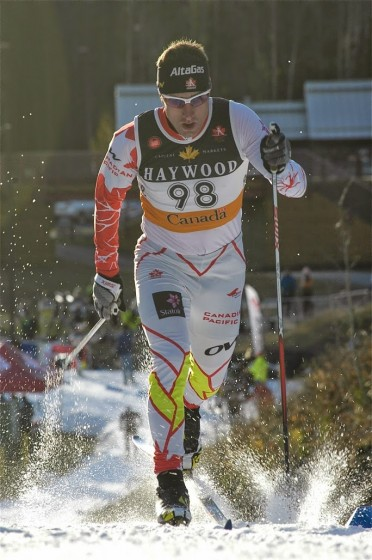 Ivan Babikov in the Frozen Thunder classic sprint. (Photo: Angus Cockney)