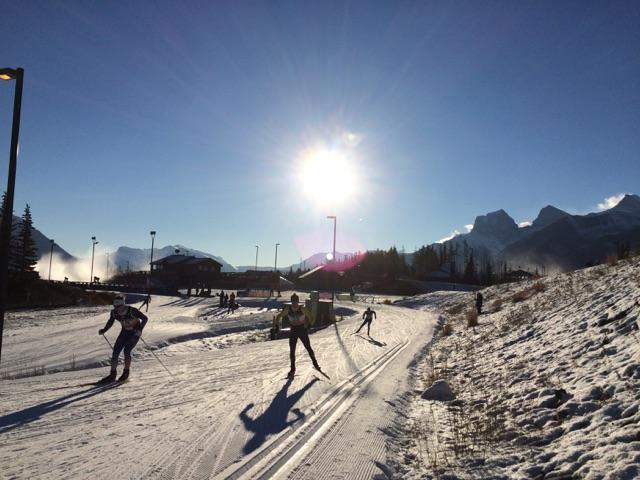Racing at the Canmore Nordic Centre on Saturday. Photograph: Cross Nation Canada.