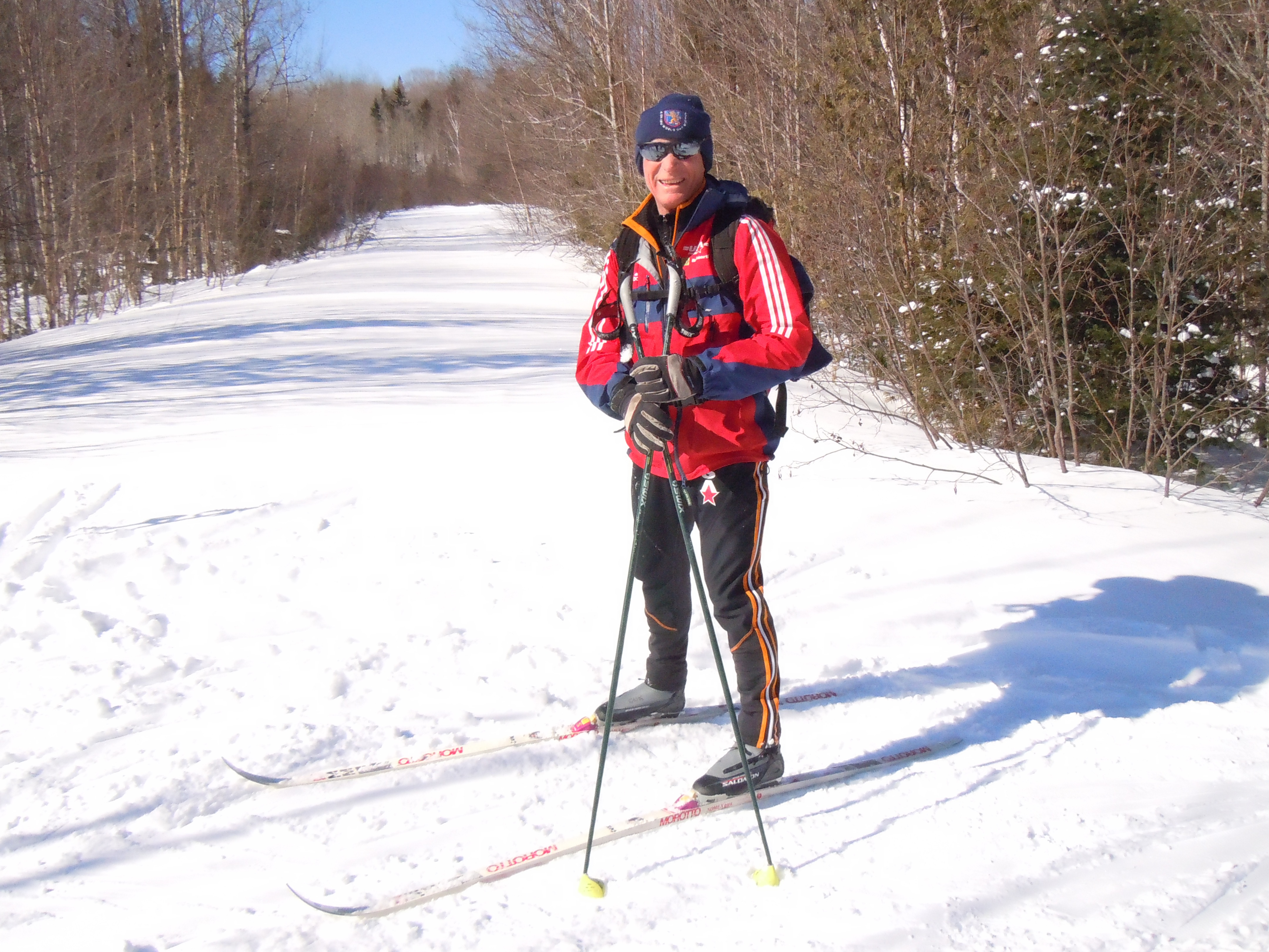 Charlie Kellogg skiing in Maine with the AMC alumni group the O H Association. (Photo: Doug Hotchkiss)