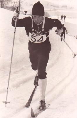 Kellogg competing at the 1968 Olympics in Grenoble, France. (Photo: US Biathlon Association)