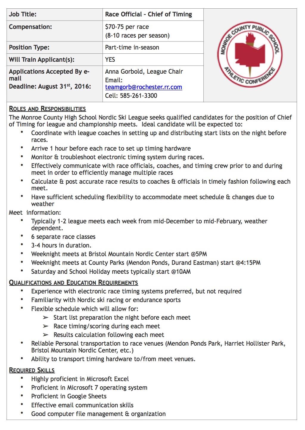 Chief of timing job description_edit BL