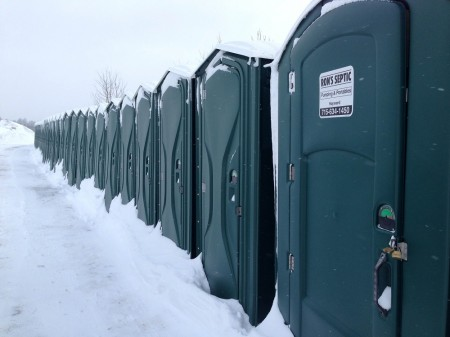 Lots of restrooms at the Birkie start.