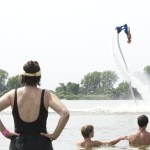 Iguana Water Sports activities from Lake of the Ozarks place on a flyboard demo.