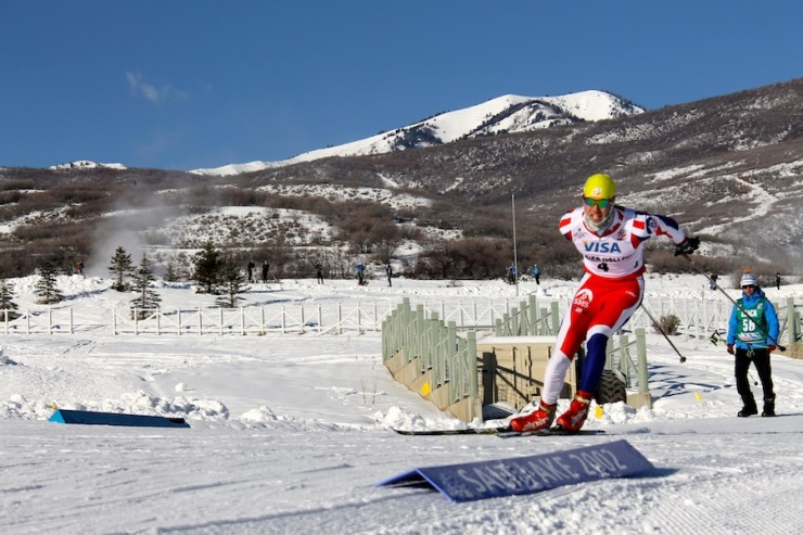 Skyler Davis competes at the 2014 U.S. Cross Country Championships at Soldier Hollow. Davis retired from skiing following the championships and took up soccer at UVM. He was lately named captain of the staff for the 2015 season.