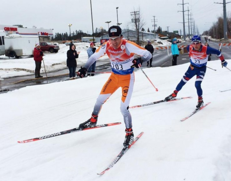 47 12 months Previous John Bauer finishing 30th (and winning age group of program) in the American Birkebeiner