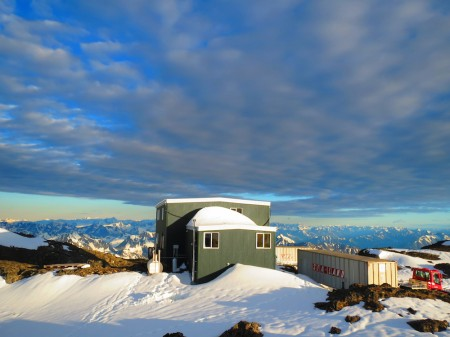 The facilities at Eagle Glacier overlook the Chugach and Kenai mountain ranges. Photo: Shannon Gramse/Flickr)
