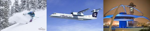 Images L-R: Trent Bona, Cresteb Butte Alaskan Airlines, Los Angeles Worldwide Airport
