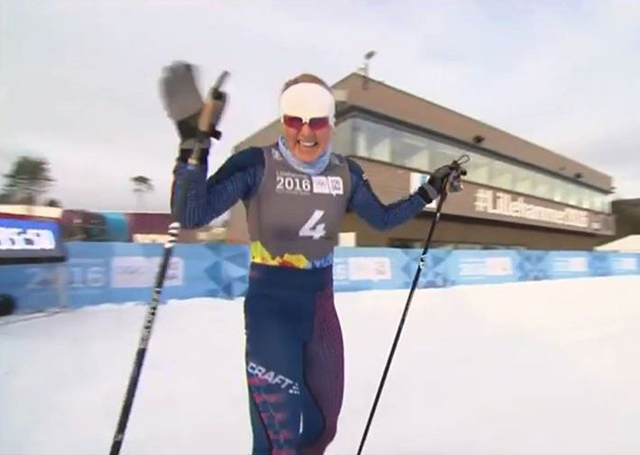 Hannah Halvorsen (Far West/Sugar Bowl Academy) qualified 10th in the first-ever Cross-Country Cross event at the 2016 Youth Olympic Games in Lillehammer, Norway. (Photo: Far West/Facebook)