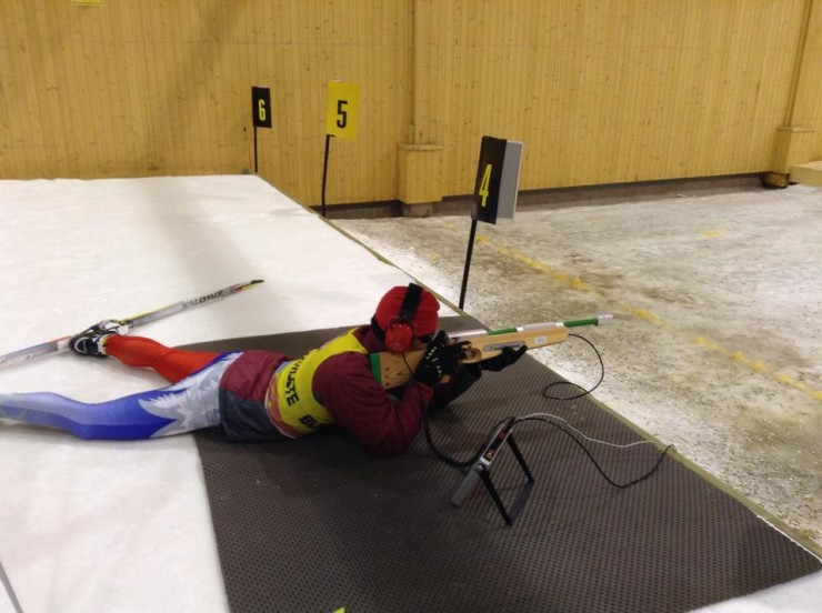 CXC Para Nordic Crew member Steve Baskis training with U.S. Paralympics Nordic Program in the ski tunnel in Torsby, Sweden, earlier this month. (Photograph: CXC Skiing/Facebook)