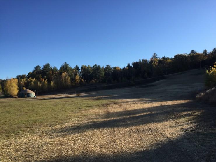 ac397 ski finish lap area looking into stadium above yurt is a climb