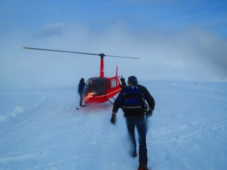 Helicopter support to and from Eagle Glacier above Girdwood, Alaska. (Photograph: Shannon Gramse/Flickr)