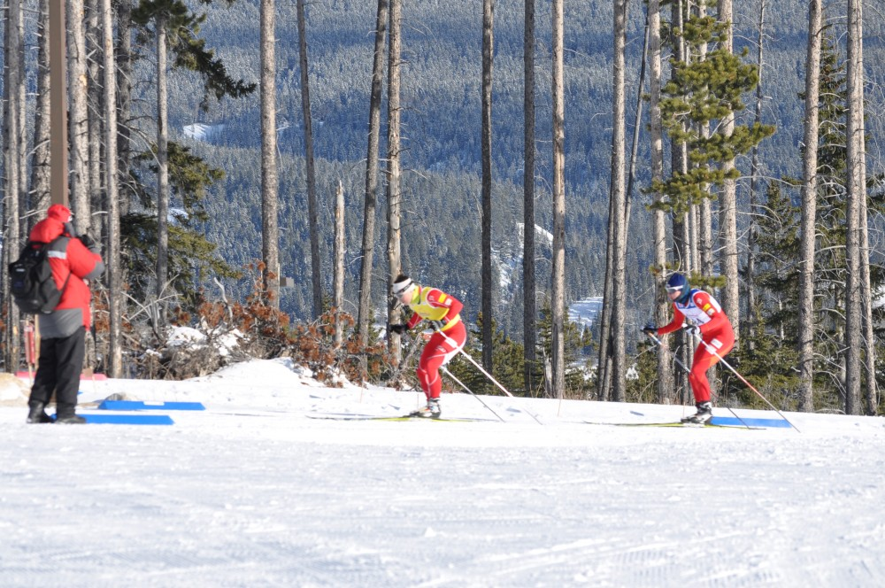 Reid Pletcher (l) guiding U.S. Paralympic nordic skier, Jake Adicoff throughout the 2014 Winter Olympic Games in Sochi, Russia. (Photo: Courtesy Photograph)