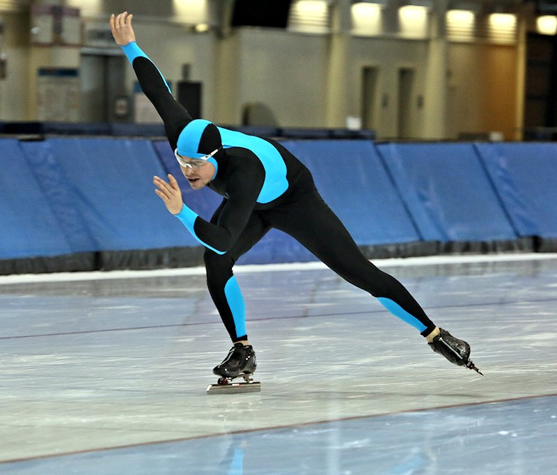 Reid Pletcher pace skating at the Utah Olympic Oval. (Photo: Courtesy Photograph)
