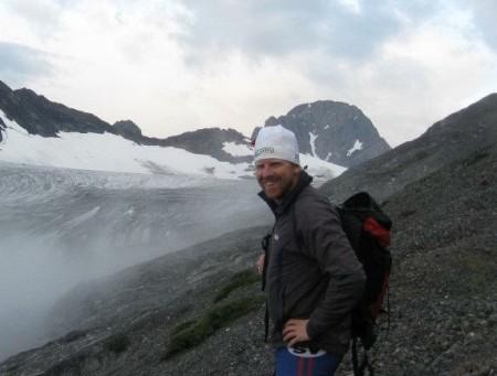 Chris Mallory on the Haig Glacier, Canadian Rockies. (Courtesy photo)