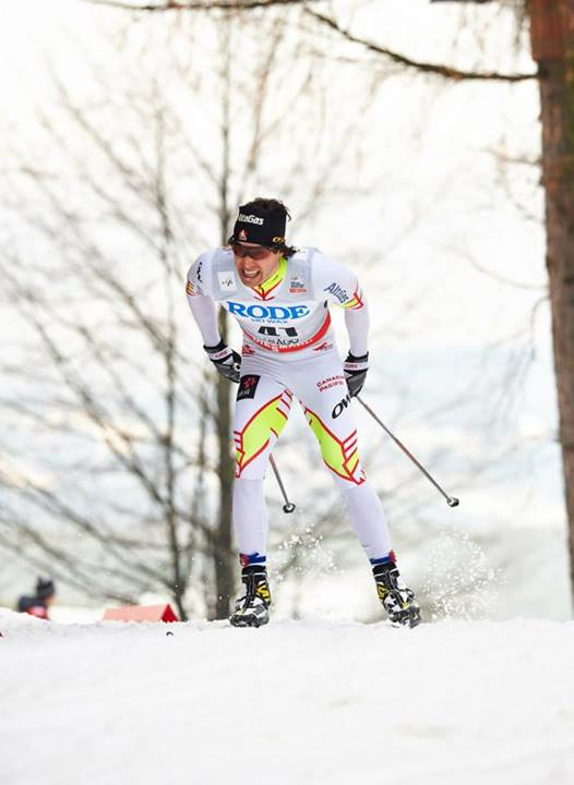 Alex Harvey racing in the World Cup individual classic sprint last weekend in Asiago, Italy. Harvey posted the 13th-fastest qualifying time but was disqualified for skating. (Photo: Fischer/Nordic Focus)