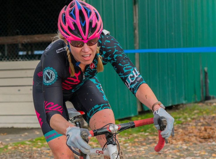 Sarah Max during a cyclocross race. (Courtesy photo)