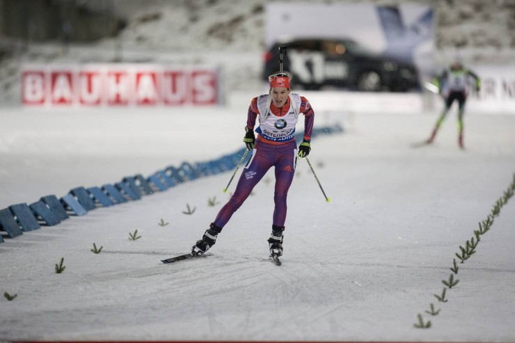 Clare Egan (US Biathlon) racing to a occupation-ideal 16th in the women's seven.five k sprint on Saturday at the IBU Globe Cup in Östersund, Sweden. (Photograph: USBA/NordicFocus)