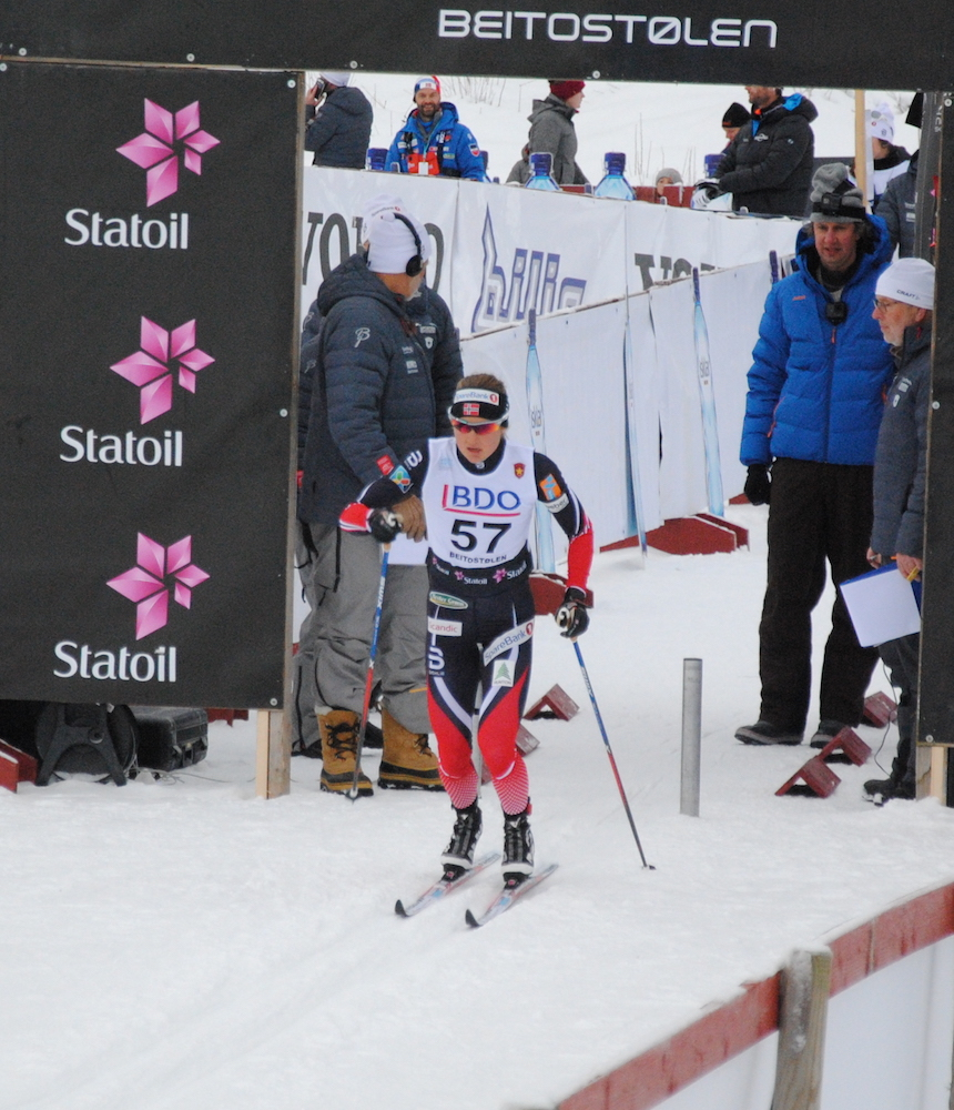 Ingvild Flugstad Østberg (Norway) out of the start in her country's first FIS race of the 2016/2017 season: the 10 k classic in Beitostølen. (All photos: Aleks Tangen)