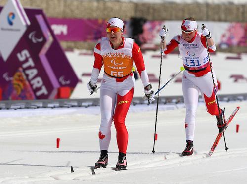 Ottawa's Margarita Gourbounova, and Regina-based guide, Andrea Bundon, were fourth in the women's 15-kilometre visually impaired category.