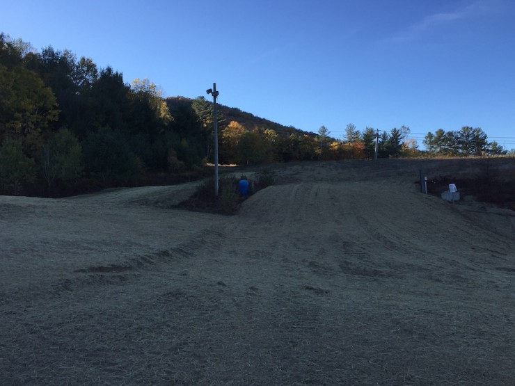 cef14 ski up hill of sprint course