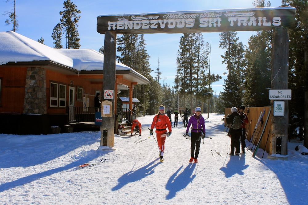 Hundreds of skiers took to the Rendezvous Ski Trails on Tuesday in West Yellowstone, Mont.