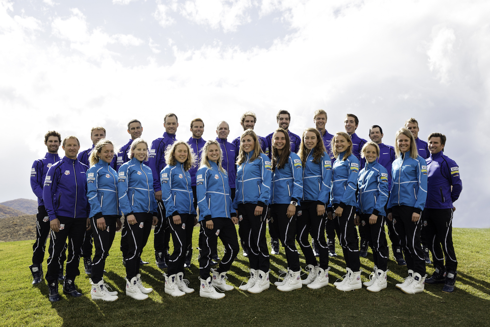 The 2015/2016 U.S. Nordic Ski and Nordic Combined teams during a team photo shoot in their new uniforms on Monday, Oct. 19, in Park City, Utah. (Photo: USSA)