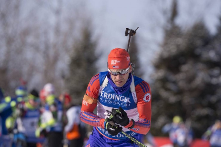 Lowell Bailey (US Biathlon) racing to 15th in the men's sprint at the IBU Globe Cup in Presque Isle, Maine. Bailey was a single of three U.S. guys in the leading twenty on Thursday. (Photograph: USBA/NordicFocus)