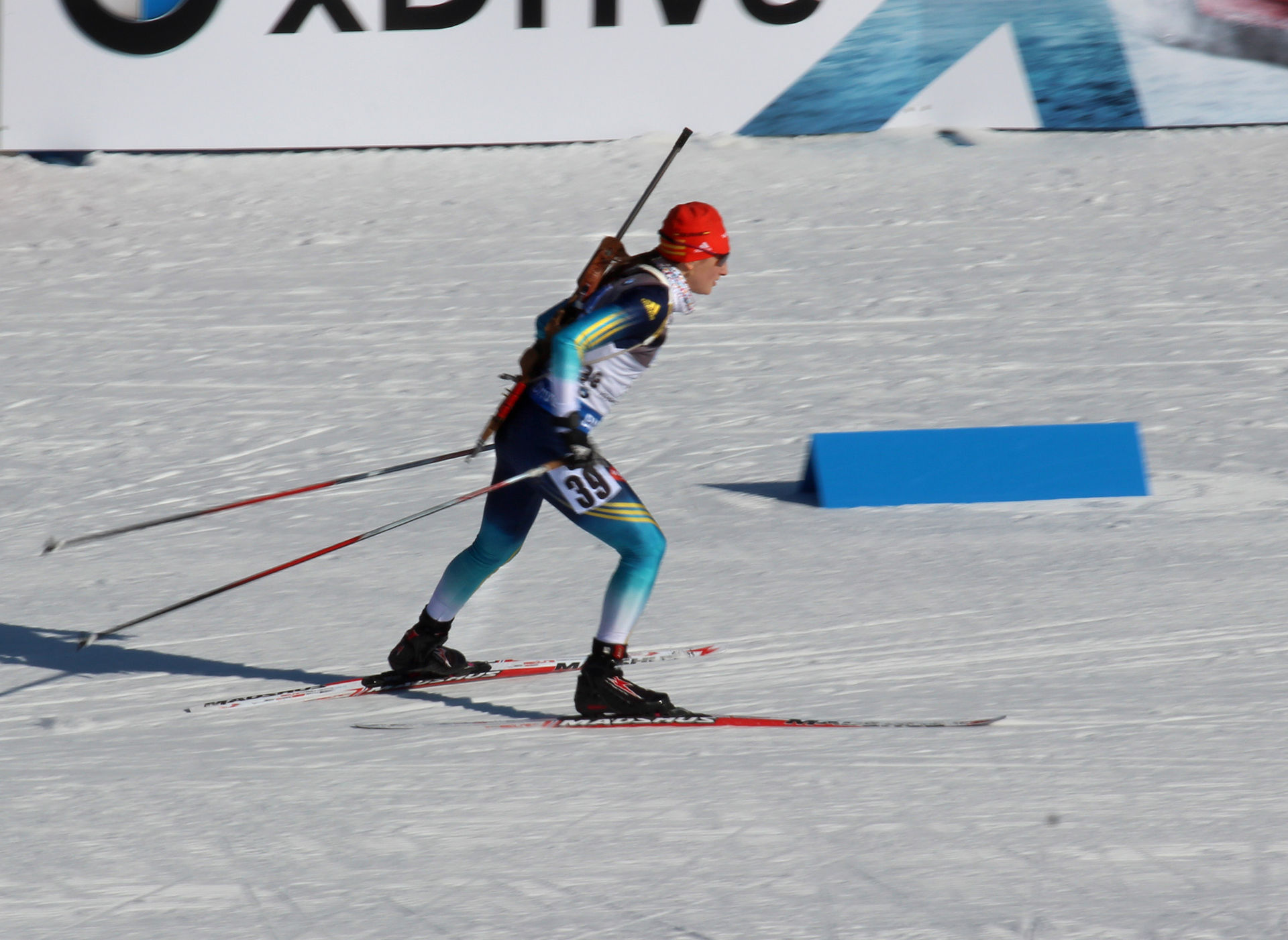 Olga Abramova competing at the World Cup in Nove Mesto in 2015. She says that she stopped taking meldonium before January 1, 2016, even though it showed up in her urine sample in January. (Photo: Pavel Hrdlička/Wikipedia Commons)