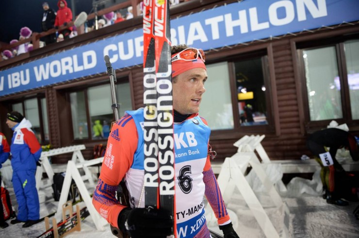 Tim Burke after putting sixth in the men's pursuit on Saturday, repeating his season-very best sixth location finish in Friday's sprint, at the IBU World Cup in Khanty-Mansiysk, Russia. (Photograph: USBA/NordicFocus)