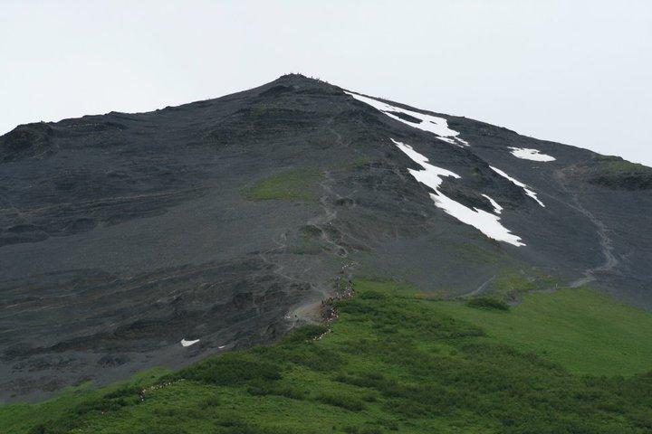The three,022-foot Mount Marathon rises above over Seward, Alaska.