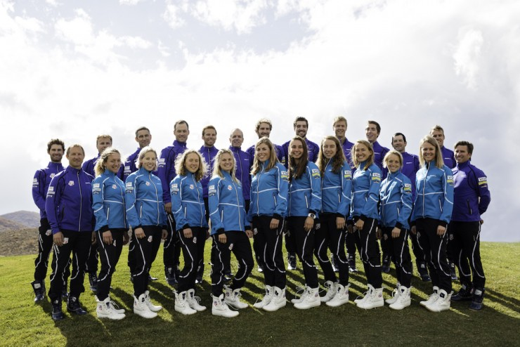 The 2015/2016 U.S. Nordic Ski and Nordic Mixed teams throughout a staff photo shoot in their new uniforms on Monday, Oct. 19, in Park City, Utah. (Photograph: USSA)