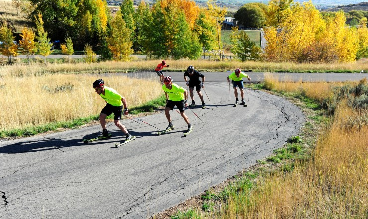 U.S. Cross Nation Ski Team roller ski instruction on the Olympic trails at Soldier Hollow, Utah. (U.S. Ski Group - Tom Kelly)